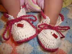 Niedliche Babyschühchen in pink/weiß