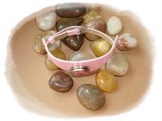 Kinderarmband rosa mit Wechselbutton