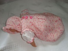 Strampelsack und Mütze für Puppe/Rebornbaby