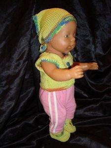 3-tlg. Kleidungsset für Puppen (ca. 40 - 45 cm)