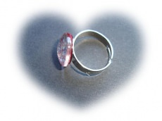 Nagellackring rot / silber
