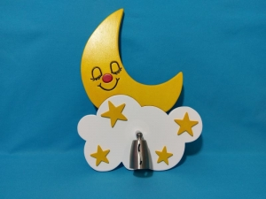 ♥ Kinderlampe - Mond & Sterne - Wandlampe - Wunschfarbe ♥