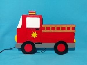♥ Nachtlicht - Schlummerlampe - Wandlampe - Feuerwehrauto ♥
