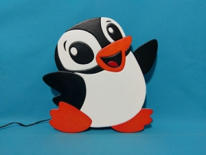 ♥ Nachtlicht - Schlummerlampe - Wandlampe - Pinguin ♥