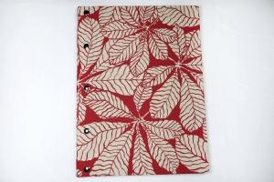Handgemachtes Gästebuchim DIN A4 Hochformat mit Kastanienblätter als Motiv