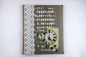 Hochwertiges handgemachtes Gästebuch nostalgisch