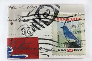 Handgemachtes Gästebuch im DIN A4 Querformat mit dem Motiv Post from USA