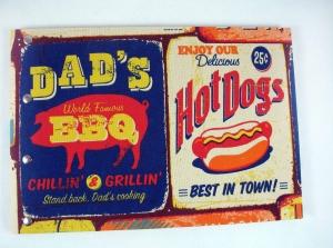 handgemachtes Gästebuch im DIN A4 Querformat Dad's BBQ