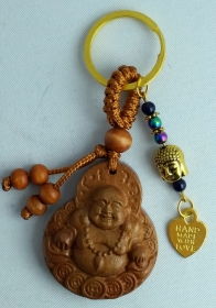 Schlüssel - Taschenanhänger, Glücks Buddha, Holz , Perlen, Asian Style, Laughing Buddha, Buddha Anhänger, Handmade with Love (Kopie id: 100167681) (Kopie id: 100167682)