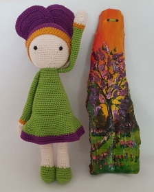 Puppenstube: Veilchen Vicky-Lila handgefertigtes Unikat