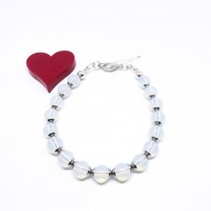 ♥ Armband mit Edelsteinen aus Opal, 6 mm ♥