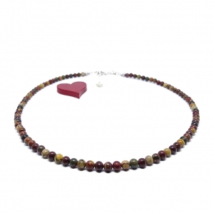 ♥ Edelsteinkette – natürlicher indischer Achat, 4 mm ♥