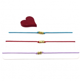 ♥ 3 filigrane Armbänder in Flieder, Rot und Türkis ♥