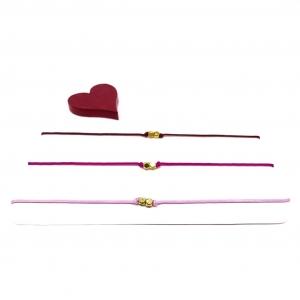 ♥ 3 filigrane Armbänder in Rosa, Magenta und Dunkelrot ♥