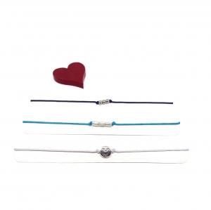 ♥ 3 filigrane Armbänder in Türkis, Blau und Hellgrau ♥