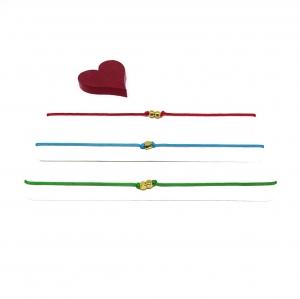 ♥ 3 filigrane Armbänder in Rot, Türkis und Grün ♥