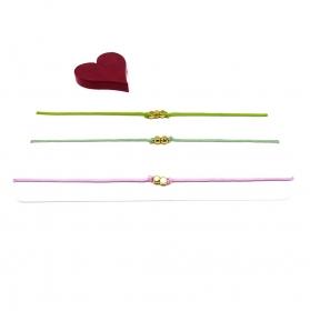 ♥ 3 filigrane Armbänder in Hellgrün, Salbeigrün und Rosa ♥