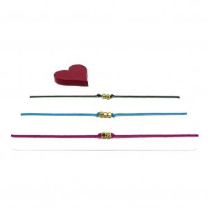 ♥ 3 filigrane Armbänder in Fuchsia-Pink, Türkis und Dunkelgrün ♥