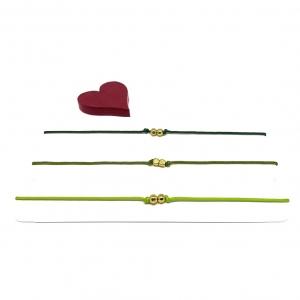 ♥ 3 filigrane Armbänder in Hellgrün, Dunkelgrün und Olivegrün ♥