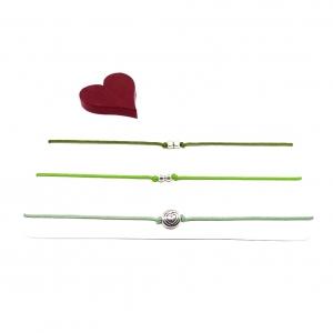 ♥ 3 filigrane Armbänder in Salbeigrün, Hellgrün und Flaschengrün ♥