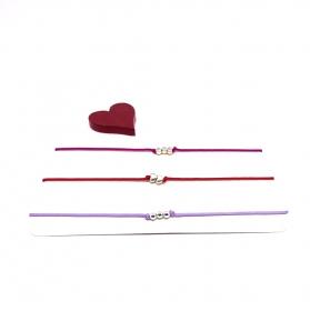 ♥ 3 filigrane Armbänder in Flieder, Rot und Fuchsia-Pink ♥