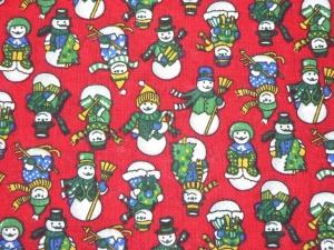 Weihnachtstoff Schneemännern - Handarbeit kaufen