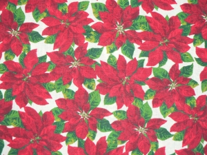 Weihnachtsstoff mit Weihnachtssternen - Handarbeit kaufen