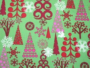 Weihnachtsstoff Tannenbäume - modern - Handarbeit kaufen