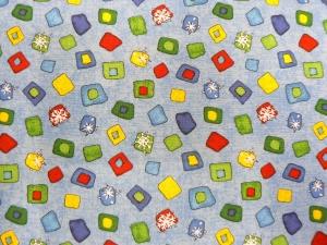 Weihnachtsstoff mit kleinen Mustern