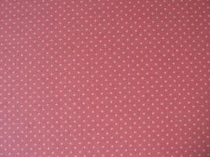 Baumwoll-/Patchworkstoff Minipunkte rosa-creme - Handarbeit kaufen