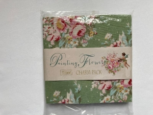 Tilda Charm Pack Painting Flowers