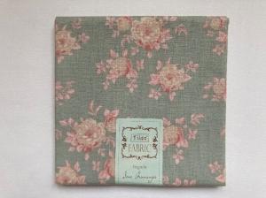 Tilda Fat Quarter blau-grün mit rosa Rosen - Handarbeit kaufen
