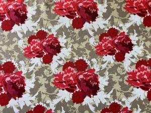 Baumwoll-/Patchworkstoff Blumen Pfingstrosen - Handarbeit kaufen