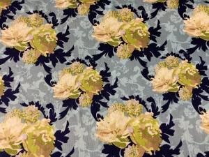 Baumwoll-/Patchworkstoff Blumen Pfingstrosen weiß - Handarbeit kaufen