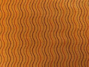 Baumwollstoff, orange mit Wellenlinien - Handarbeit kaufen