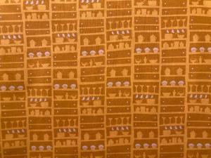 Baumwollstoff Küchenmotive in orange - Handarbeit kaufen