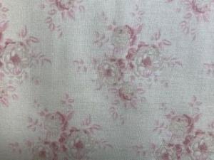 Tilda Stoff Rosen auf weißem Grund  - Handarbeit kaufen