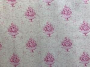 Tilda Stoff,  Blumenschale auf weißem Grund   - Handarbeit kaufen
