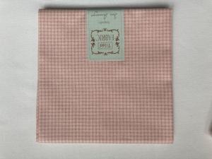 Tilda Fat Quarter kleine Karos (Mini Gingham) weiß und pink