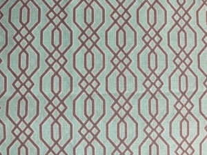 eleganter Stoff in mint und grau  - Handarbeit kaufen