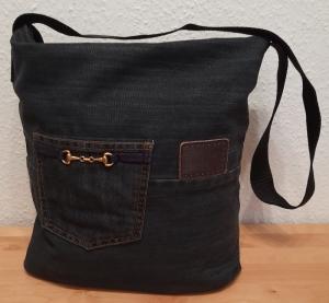 Umhängetasche aus Jeanshosen, upcycling, Shopper, Unikat, einzigartig, byRehfeldt  - Handarbeit kaufen