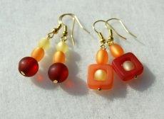 Ohrhänger FARBFEUER Polaris rot, orange, gelb - Handarbeit kaufen