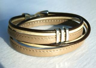 Wickelarmband TAUPE Nappa-Leder braun beige lässig elegant