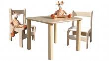 Kindersitzgruppe - Kindermöbel - Tisch und 2 Stühle - naturbelassen und unglaublich stabil