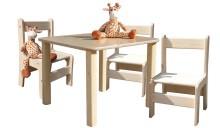 Kindersitzgruppe - Kindermöbel - Tisch und 3 Stühle - naturbelassen und unglaublich stabil