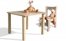 Kindersitzgruppe - Kindermöbel - Tisch und 1 Stuhl- naturbelassen und unglaublich stabil