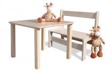 Kindersitzgruppe - Kindermöbel - Tisch und 1 Bank - naturbelassen und unglaublich stabil