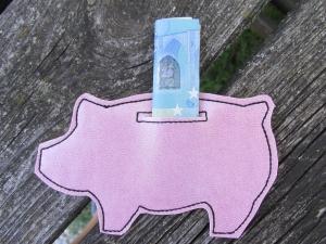 Geldgeschenk - Glücksschwein - Muttertag - rosa - Geldscheinhalter - Gutscheinhalter - Geschenkverpackung - Gutscheinverpackung - Handarbeit kaufen