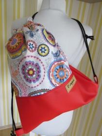 Turnbeutel - Rucksack - Festivalbag - Mandala - Sporttasche - Badetasche - handgemachte Geschenke - Handarbeit kaufen