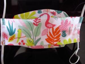 Mund - und Nasenmaske - wiederverwendbar - waschbar - bunt - Alltagsmaske - Gesichtsmaske - Flamingo - zero waste - nachhaltig
